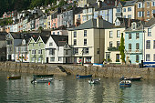 Waterfront houses at Bayard's Cove in Dartmouth, an historic wharf used as a filming location for 'The Onedin Line'