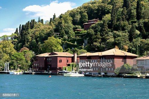 Waterfront houses in Bosphorus Strait : Stock Photo