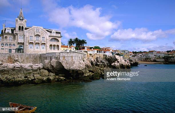 Waterfront mansion, Low angle view, Cascais, Portugal