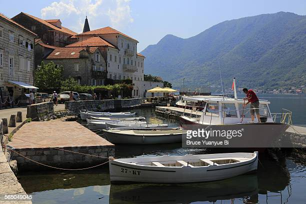Waterfront of town of Perast