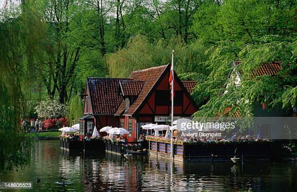 Waterfront restaurant in Copenhagen's famous Tivoli Gardens.