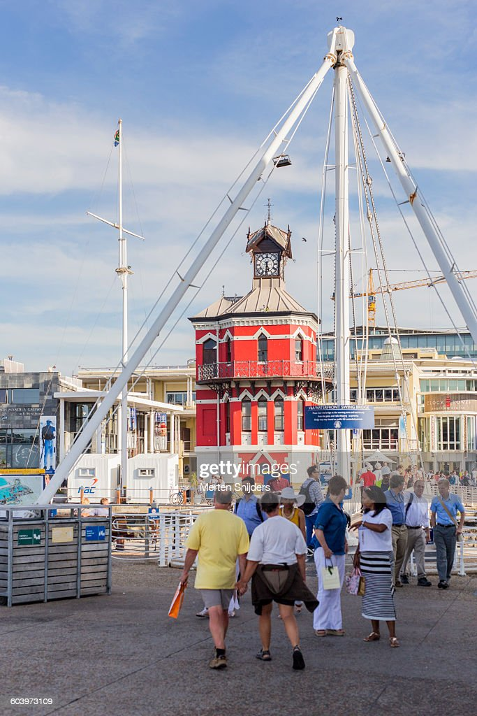 V&A Waterfront Swing Bridge and Clock Tower