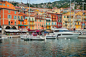 Water front at Villefranche in the summer