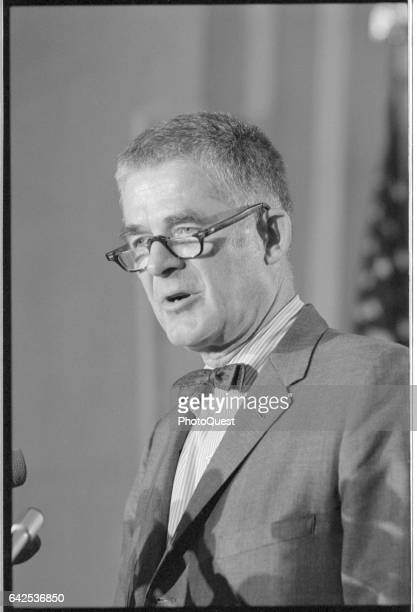 Watergate Special Prosecutor Archibald Cox speaks at a Justice Department press conference Washington DC June 4 1973
