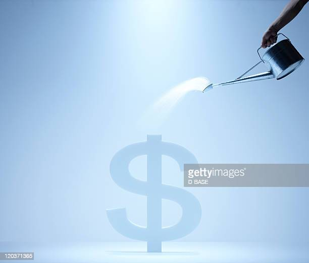 watering dollar sign