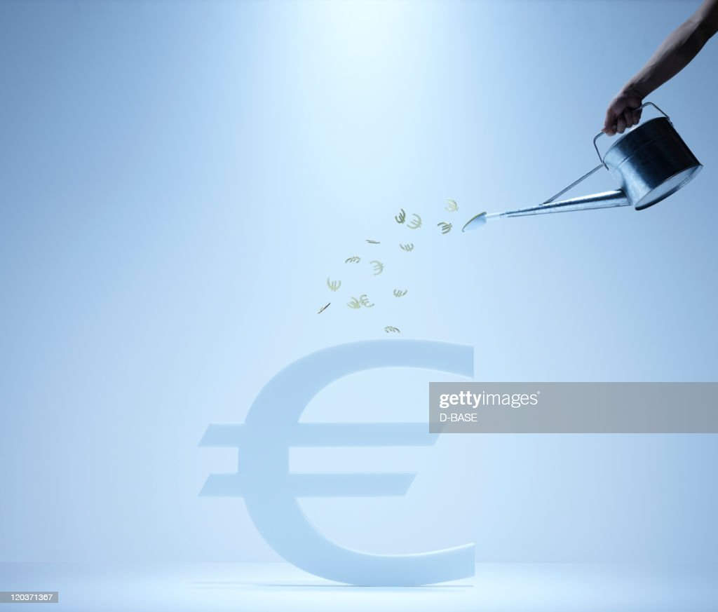 watering Euro sign