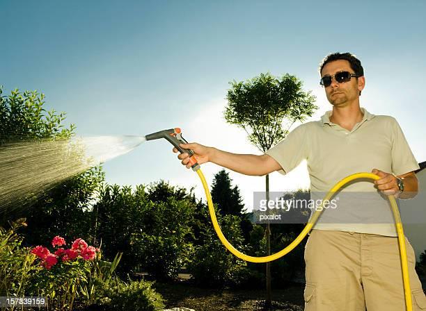 Arroser le jardin
