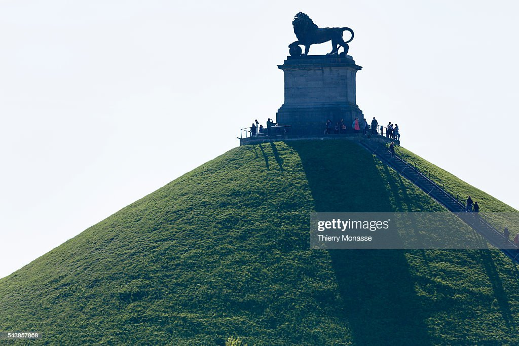 Waterloo Belgium April 16 2014 The Lion's Mound on the battlefield of Waterloo Lion's Hillock is an artificial hill raised on the battelfield of...