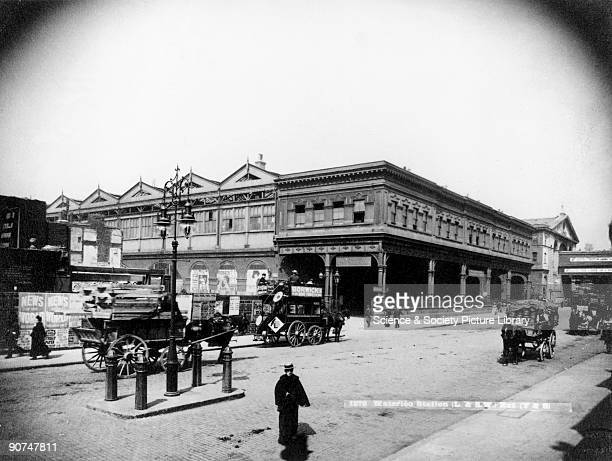 Waterloo Station c 1905 The London terminus of the London South Western Railway