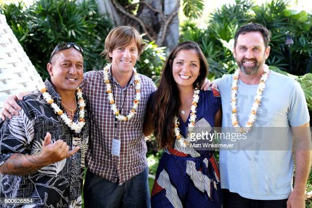 Waterman Kaleo Amadeo Director Tim Bonython Patagonia Surf Ambassador Kimi Werner and Director Taylor Steele attend day four of the 2017 Maui Film...