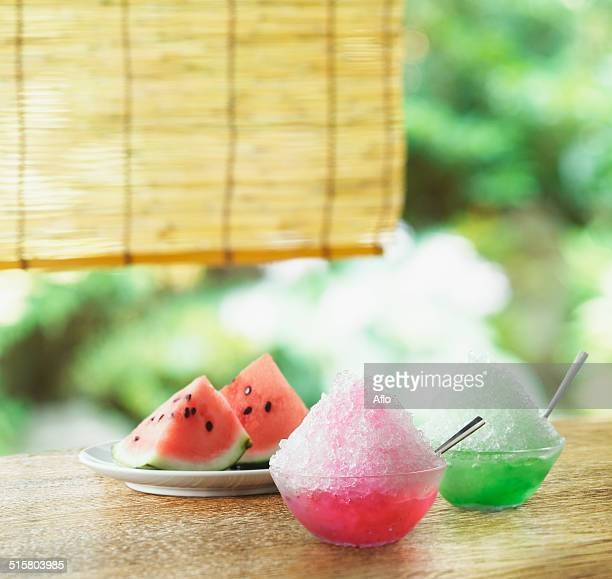 Watermelon and shaved ice