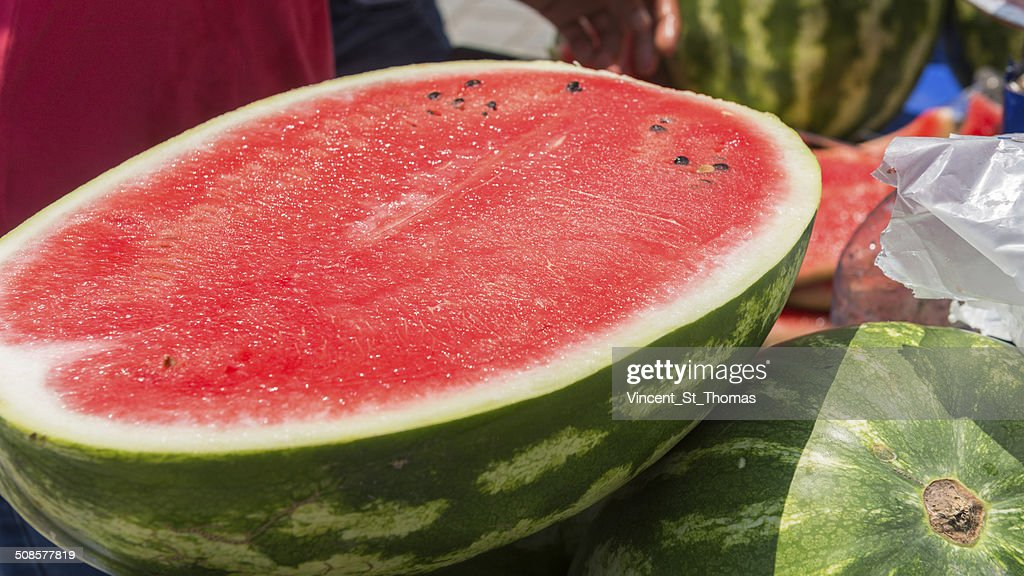 Watermelon For Sale : Stock Photo