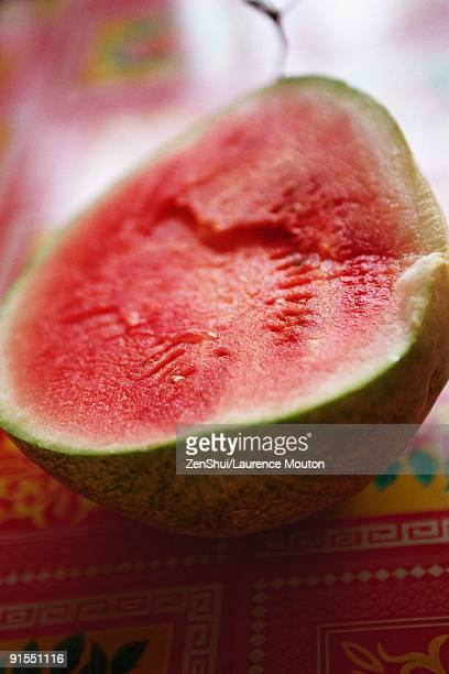 Watermelon sliced in half