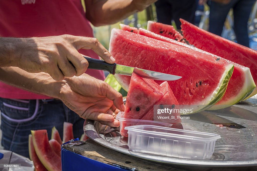 Watermelon Vendor : Bildbanksbilder