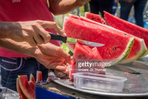 Watermelon Vendor : Stock Photo
