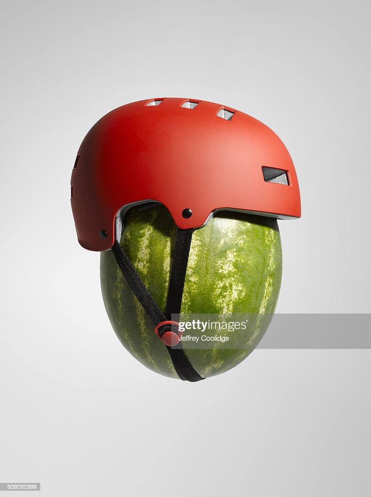 Watermelon with Helmet