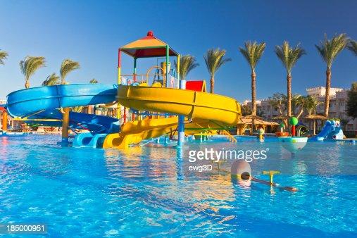 Waterpark in luxury tropical resort