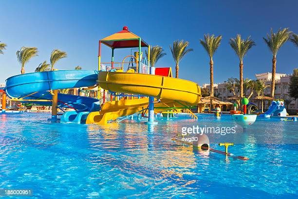 Parc aquatique de luxe de ce centre de villégiature tropical