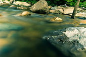 Long exposure of water in White Mountain National Park New Hampshire.