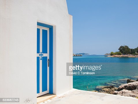 Waterside chapel, Mandraki, Kastellorizo, Greece