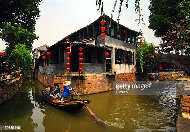 Waterside village in East China