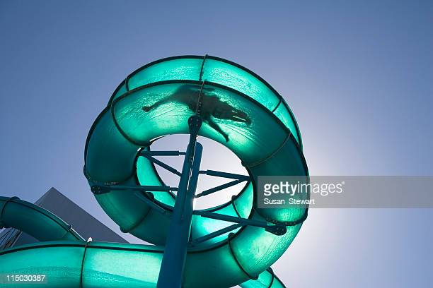 Waterslide, backlit