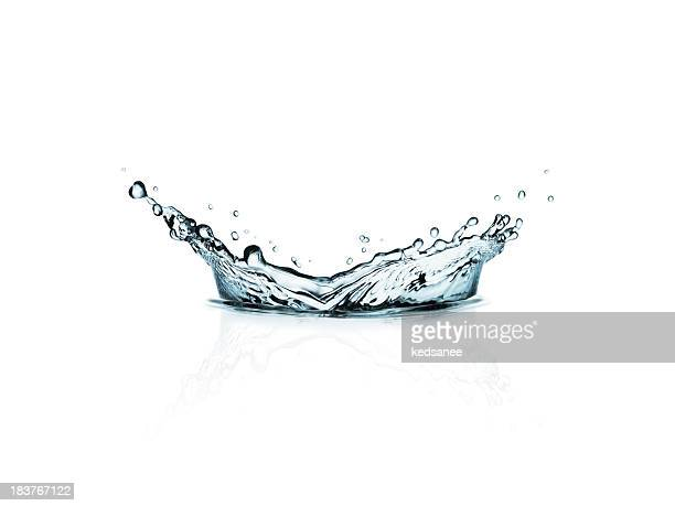 Watersplash isolated on white background