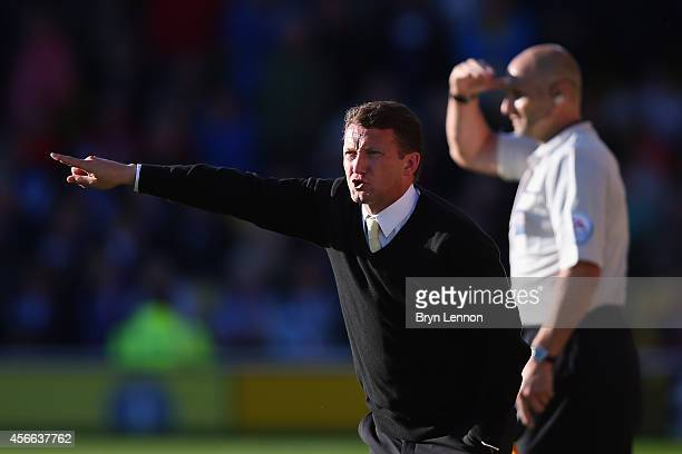 Watford Head Coach Billy McKinlay watches his team during the Sky Bet Championship match between Watford and Brighton Hove Albion at Vicarage Road on...