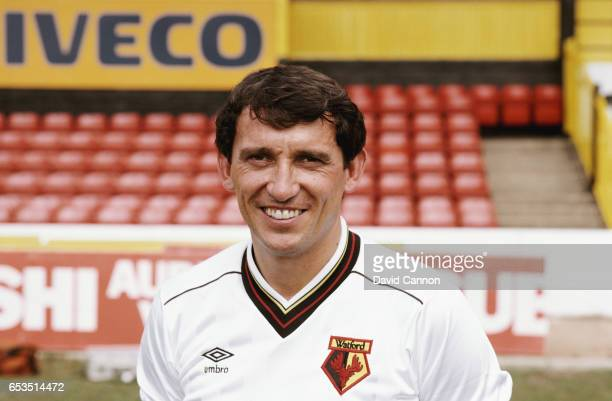 Watford manager Graham Taylor pictured at a pre season photocall ahead of the 1983/84 season at Vicarage Road in August 1983 in Watford England