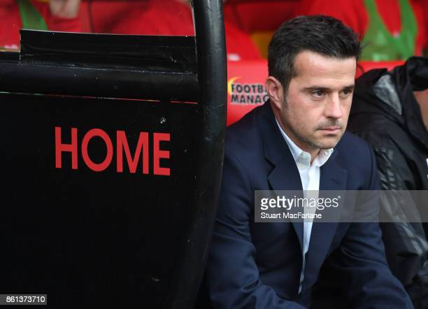 Watford manager Marco Silva before the Premier League match between Watford and Arsenal at Vicarage Road on October 14 2017 in Watford England