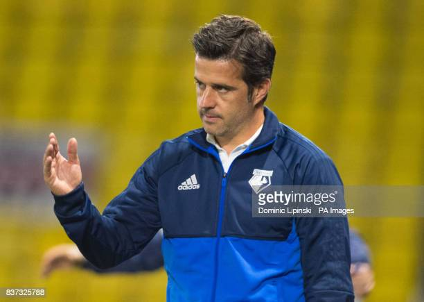 Watford manager Marco Silva during the Carabao Cup Second Round match at Vicarage Road Watford