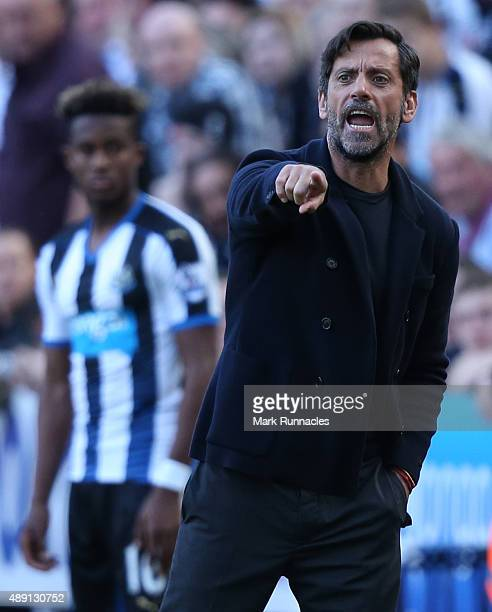 Watford manager Quique Sanchez Flores on the sideline during the Barclays Premier League match between Newcastle United FC and Watford FC at St...