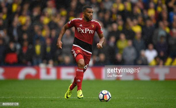 Watford player Adrian Mariappa in action during the Premier League match between West Bromwich Albion and Watford at The Hawthorns on September 30...