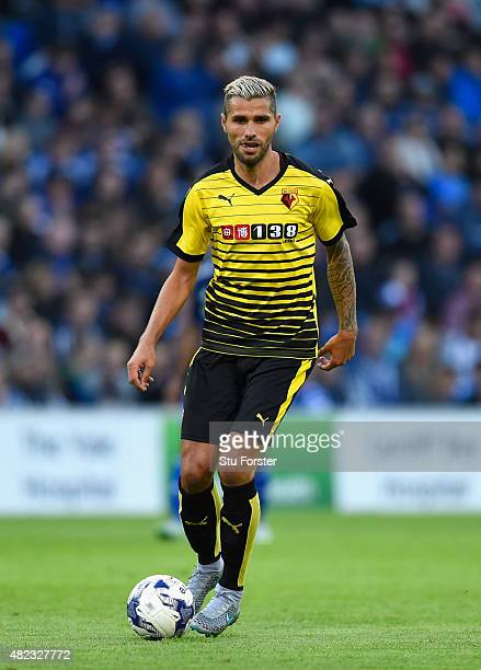 Watford player Valon Behrami in action during the Pre season friendly match between Cardiff City and Watford at Cardiff City Stadium on July 28 2015...