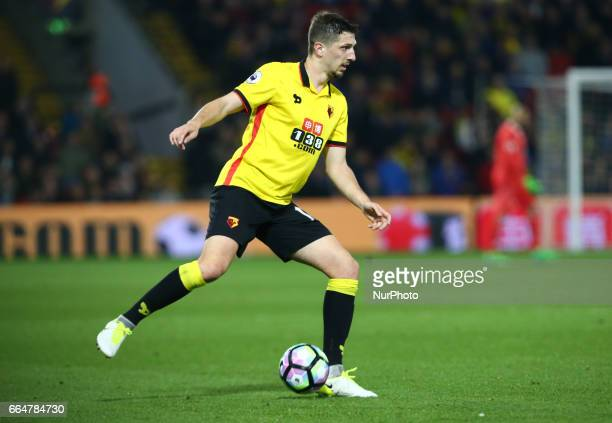 Watford's Craig Cathcart during EPL Premier League match between Watford against West Bromwich Albion at Vicarage Road Watford Britain 04 April 2017