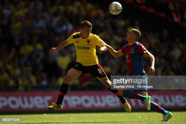 Watford's Jonathan Hogg and Crystal Palace's Stuart O'Keefe during the npower Football League Championship Play Off Final at Wembley Stadium London