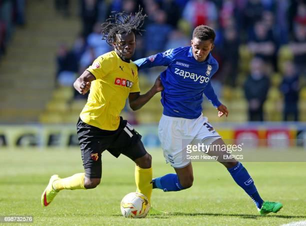 Watford's Juan Carlos Paredes and Birmingham City's Demarai Gray in action