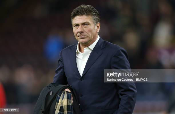 Watford's manager Walter Mazzarri looks dejected during the game against Burnley