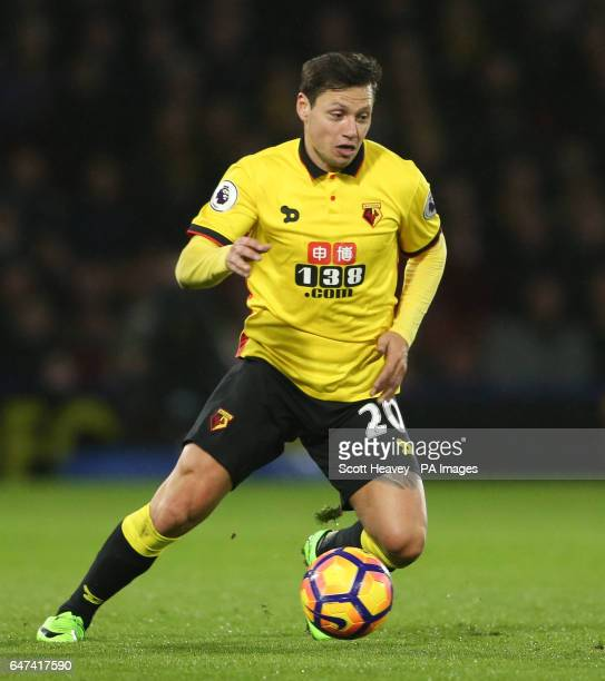 Watford's Mauro Zarate during the Premier League match at Vicarage Road Watford
