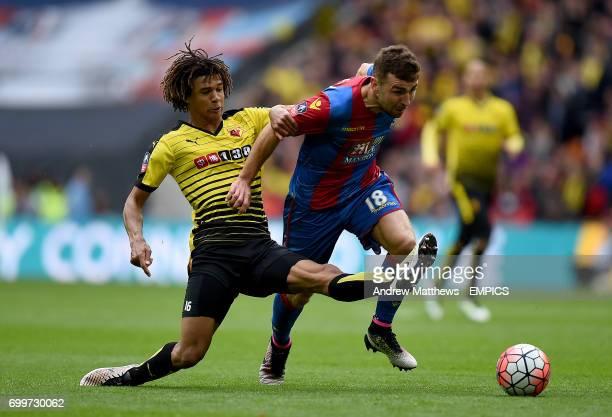 Watford's Nathan Ake and Crystal Palace's James McArthur battle for the ball