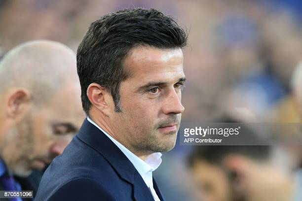 Watford's Portuguese head coach Marco Silva ahaed of the English Premier League football match between Everton and Watford at Goodison Park in...