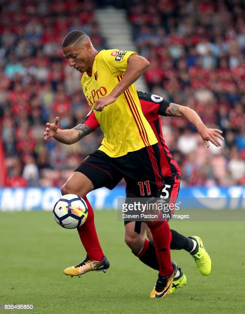 Watford's Richarlison during the Premier League match at the Vitality Stadium Bournemouth