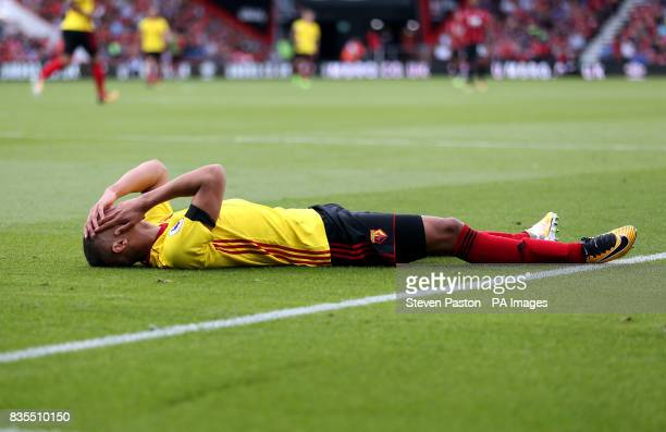 Watford's Richarlison reacts to a missed chance during the Premier League match at the Vitality Stadium Bournemouth