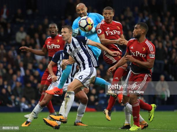 Watford's Richarlison scores his side's second goal of the game during the Premier League match at The Hawthorns West Bromwich