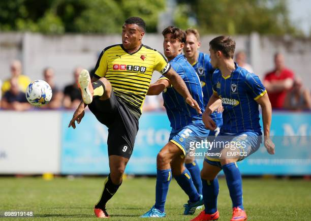 Watford's Troy Deeney on action