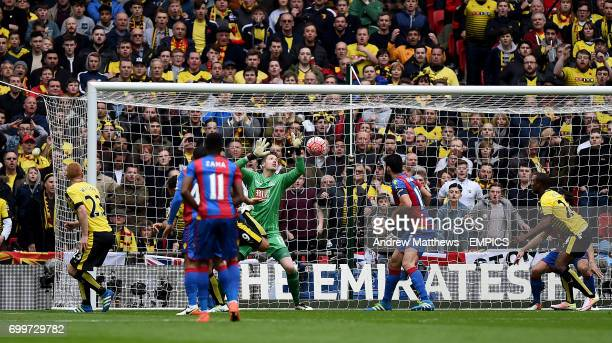 Watford's Troy Deeney scores his side's first goal of the game