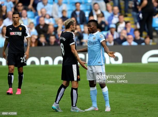 Watford's Valon Behrami and Manchester City's Kelechi Iheanacho