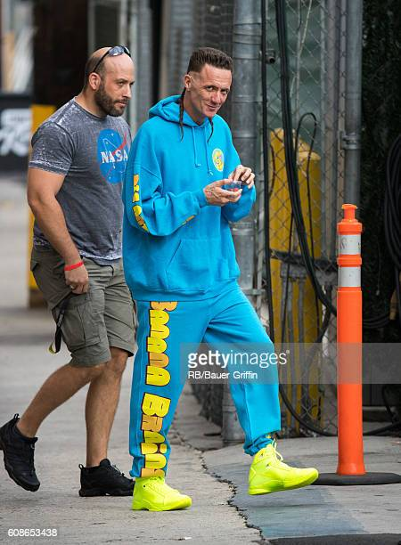 Watkin Tudor Jones of the music group 'Die Antwoord' is seen at 'Jimmy Kimmel Live' on September 19 2016 in Los Angeles California