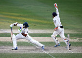 Watling of New Zealand appeals for the wicket of Taufeeq Umar of Pakistan during Day Two of the Second Test between Pakistan and New Zealand at Dubai...