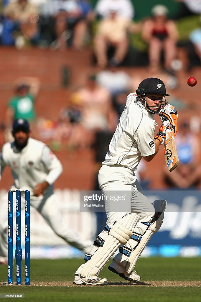 Watling of New Zealand bats during day three of the 2nd Test match between New Zealand and India at the Basin Reserve on February 16 2014 in...